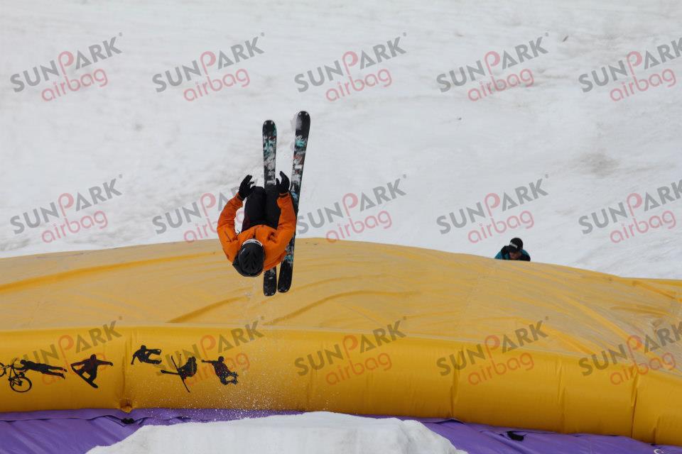 Ski Jump into Airbag (2)