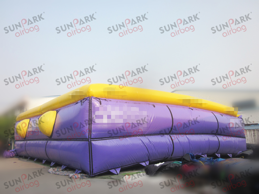 Ski Jump into Airbag (3)